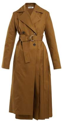 Jil Sander Esprit Cotton Trench Coat - Womens - Dark Tan
