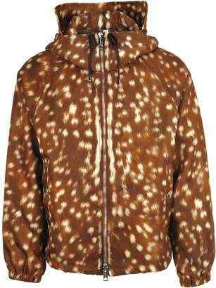Burberry London Deer Print Nylon Hooded Jacket
