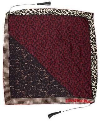 Louis Vuitton Silk Leopard Tassel Scarf