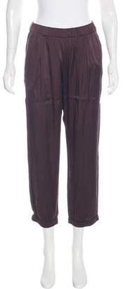 Diane von Furstenberg Silk High-Rise Pants
