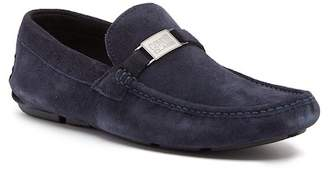 Roberto Cavalli Buckle Suede Moc Loafer