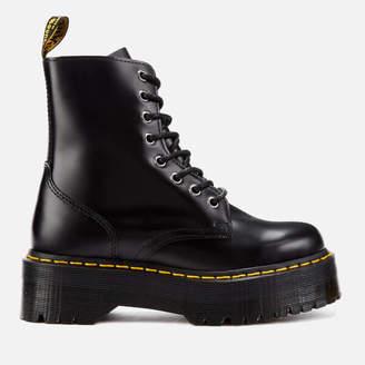 Dr. Martens Women's Jadon Polished Smooth Leather 8-Eye Boots - Black