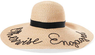 Eugenia Kim Bunny Embroidered Straw Sunhat - Sand