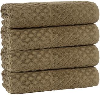 Enchante Home Glossy 4Pc Bath Towel Set