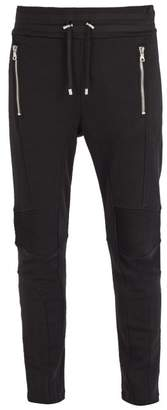 Balmain Slim Fit Cotton Jersey Track Pants - Mens - Black