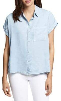 Sanctuary Short-Sleeve Button-Down Shirt