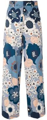 Chloé wide leg floral trousers