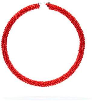 Sachin + Babi Large Glass Beaded Hoop - Gojiberry