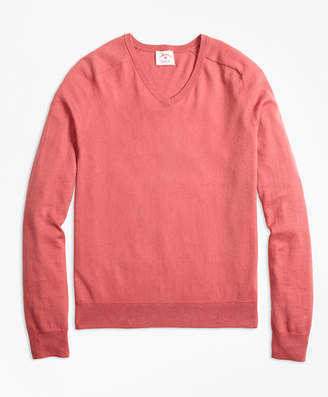Brooks Brothers Cotton-Cashmere V-Neck Sweater