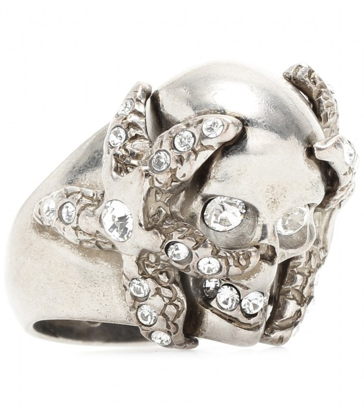 Alexander McQueen SKULL AND STARFISH COCKTAIL RING