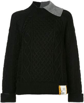 Puma Maison Yasuhiro aran knit sweater