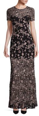 BCBGMAXAZRIA Alexus Embroidered Lace Gown $548 thestylecure.com