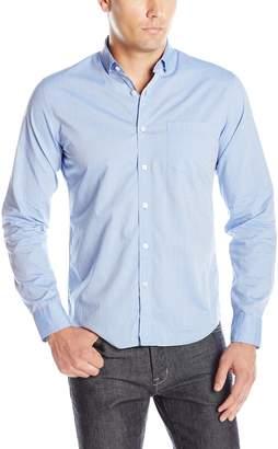 DL1961 Men's Bowery & Bleeker Modern Slim Talilored Fit Button Down Shirt, Blue, Soft Finish, L