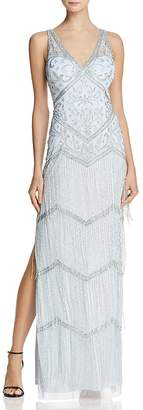 Aidan Mattox Embellished Fringe Gown - 100% Exclusive
