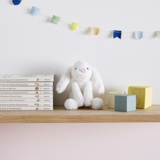 The White Company Jellycat Mini White Smudge Bunny Toy, White, One Size
