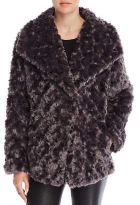 T Tahari Roslyn Faux Fur Coat