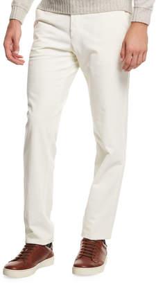 Ermenegildo Zegna Corduroy Flat-Front Trousers