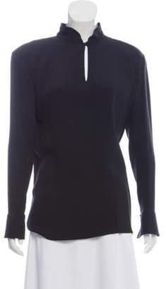 Giorgio Armani Structured Silk Top Black Structured Silk Top
