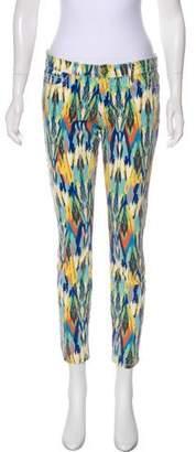 Current/Elliott Printed Mid-Rise Pants