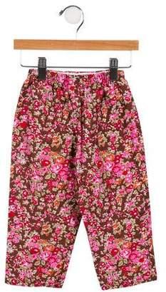 Papo d'Anjo Girls' Floral Print Corduroy Pants