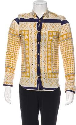 Burberry Abstract Print Button-Up Shirt w/ Tags