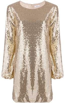 P.A.R.O.S.H. sequin embroidered short dress
