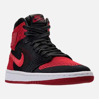 Nike Boys' Grade School Air Jordan Retro 1 High Flyknit Basketball Shoes