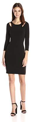 Velvet by Graham & Spencer Women's Stretch Jersey Keyhole Detail Dress