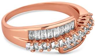 Jon Richard Rose Gold Crystal Twist Ring