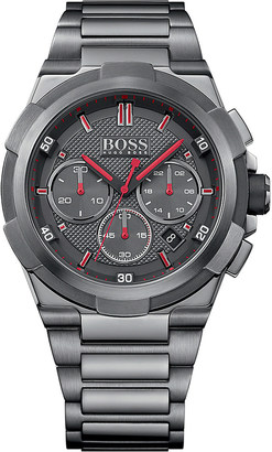 HUGO BOSS 513361 juggernaut stainless steel watch $475 thestylecure.com