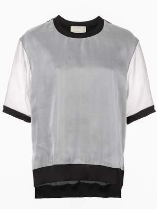 Nicole Miller sheer layered T-shirt