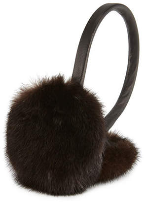 Surell Leather & Mink Fur Earmuffs