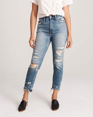 Abercrombie & Fitch Ripped High Rise Mom Jeans