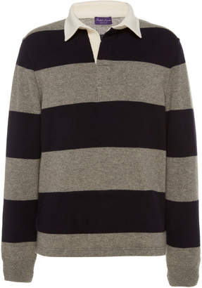 Ralph Lauren Purple Label Striped Rugby Pullover