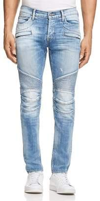 Hudson The Blinder Biker Super Slim Fit Jeans in Thrash $305 thestylecure.com