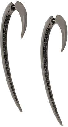 Shaun Leane black spinel large Hook earrings