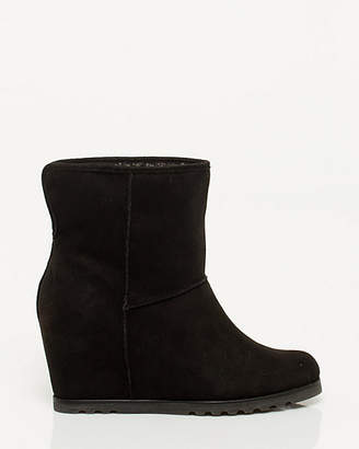 Le Château Suede-like Wedge Bootie
