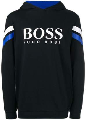 HUGO BOSS logo hooded sweatshirt