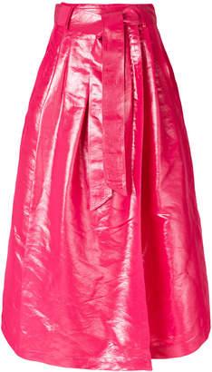 Dusan pleated long skirt