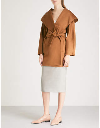 2d747731e53 at Selfridges · Max Mara Valdese cashmere wrap coat