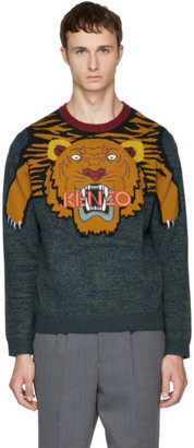 Kenzo Multicolor Intarsia Tiger Sweater