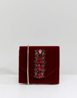 Lipsy Embellished Velvet Evening Bag