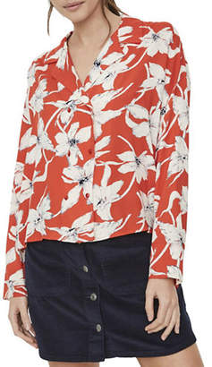 Vero Moda Floral Double-Breasted Shirt