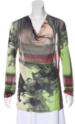Jean Paul Gaultier Soleil Digital Print Long Sleeve Top