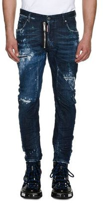 Dsquared2 Tidy Biker Distressed Skinny Jeans $845 thestylecure.com