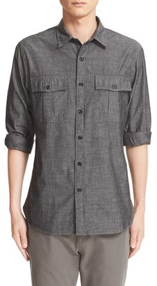 Men's Todd Snyder Chambray Military Shirt $198 thestylecure.com