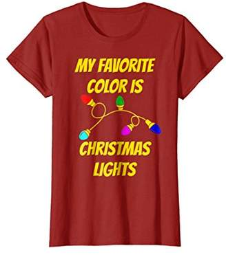 My Favorite Color Is Christmas Lights T-Shirt Funny