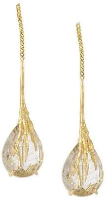 Wouters & Hendrix Gold 'Crow's Claw' rutilated quartz earrings