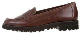 Paul Green Leather Round-Toe Loafers