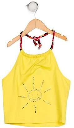 Sonia Rykiel Girls' Halter Embellished Top w/ Tags